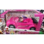 Barbie Arabası Et Bebekli Sürtme Mekanizmalı Oyuncak Araba
