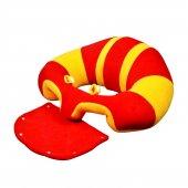 Bebe Yatmaz Bebek Oturma (Destek) Minderi Kırmızı Sarı