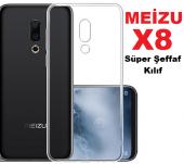 Meizu X8 Süper Silikon Şeffaf Kaliteli Kılıf