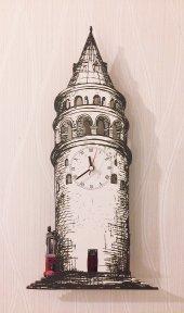 Galata Kulesi Sallanır Sarkaçlı Duvar Saati