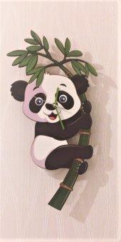 Panda Temalı Sallanır Sarkaçlı Duvar Saati
