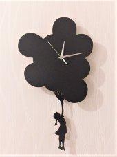 Uçan Balon Sallanır Sarkaçlı Duvar Saati
