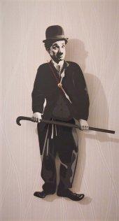 Charlie Chaplin Sallanır Sarkaçlı Duvar Saati