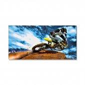 Hız Tutkusu Motorsiklet Kanvas Tablosu 50 Cm X 100 Cm