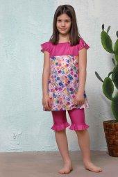 Pembe Çiçek Desenli Kız Çocuk Mayo