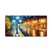 Led Işıklı Afremov Tarzı Sokak Tablosu 60 Cm X 120 Cm