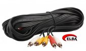 Elba C0659 3rca 3rca Stereo 10mt Kablo
