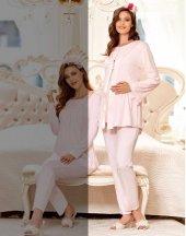 Flz 31 270 Sabahlıklı 3lü Hamile Lohusa Pijama Takımı