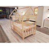 Montessori Yatak Okba Mobilya Kenar Korumalı Ahsap Yatak 90x190 Cm