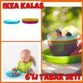 ıkea Kalas 6 Adet Renkli Çocuk Yemek Tabağı Bebek Mama Tabağı