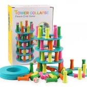 Ahşap Satranç Denge Kule Oyun Ahşap Yapı Blokları Eğitici Oyuncak