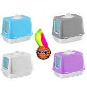 Kapalı Kedi Tuvaleti , Kürek , Koku Filtresi 50x40x36 Cm+hediyeli