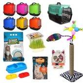 Kedi Tuvalet Seti Ve İhtiyaçları 10lu Paket (Süpriz Hediyeli)