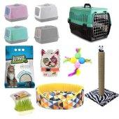 Kedi Tuvalet Seti Ve İhtiyaçları 8li Paket(Süpriz Hediyeli)