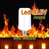 Led Alev Ampul, 4 Watt E27 Duy Ateş Efektli Led Al...
