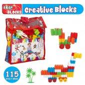 Yabidur Oyuncak 115 Parça Çantalı Creative Blocks