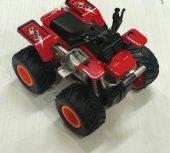 4*4 Atv Jeep Sürtmeli Kırmızı Oyuncak Araba Peluşcu Baba Pb Xg8