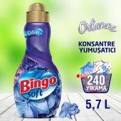 Bingo Soft Konsantre Çamaşır Yumuşatıcısı Ortanca 1440 Ml Ekonomi Paketi 4lü