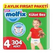 Molfix Külot Bez 4 Beden Maxi 2 Aylık Fırsat Paket...