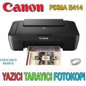 Canon Pixma E414 Tarayıcı Fotokopi Yazıcı Usb Kablo Hediyeli