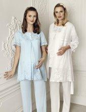 Artış 6306 3lü Lohusa Sabahlık Pijama Takımı