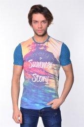 Iceboys Summer Story Yazılı Süblime Baskı T Shirt