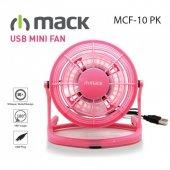 Mack Masaüstü Plastik Pembe Usb Mini Fan Mcf 10 Pk...