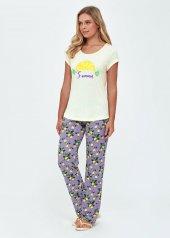 Dagi Kadın Modal Limon Emp. O Yaka Kısa Kol Pijama Takımı Sarı B0219y0013sr