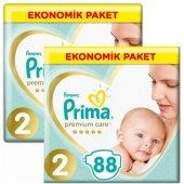 Prima Premium Care Bebek Bezi 2 Beden 4 8 Kg 88li 2li 176 Adet