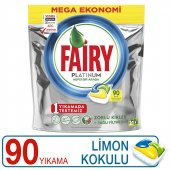 Fairy Platinum Bulaşık Kapsülü Limon Kokulu 90 Yıkama