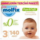 Molfix Pure&soft Bebek Bezi 3 Beden 4 9 Kg 70li 2 Paket 140 Adet