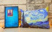 Tasarım Van Gogh Yıldızlı Geceler Kalın Defter Ve Yastık Seti