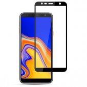 Samsung J4 Plus Tamperli Tam Kaplayan Kırılmaz Cam Tam Kaplama Ek