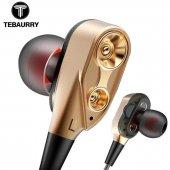 Tebaurry R8 Çift Hoparlörlü Kablolu Mikrofonlu Kulaklık