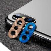 Apple İphone X Metal Kamera Koruyucu Lens Koruma G...