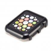 Apple Watch 38mm Slim Şık Sert Çerçeve Koruma Kılıfı Siyah