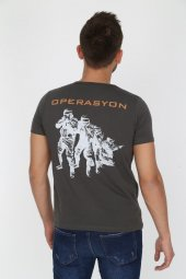 Genıus Store Erkek Operasyon Baskılı Military Tişört (Yeni Ürün)