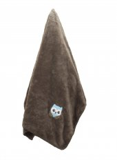 Baykuş Nakışlı Welsoft Bebek Battaniyesi 75*100 Cm