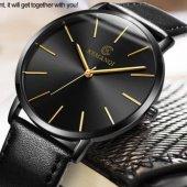 Kemanqi Klasik Erkek Kol Saati Sade Ve Şık Siyah Tasarım Saat