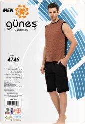 Güneş 4746 Sıfır Kol Erkek Şortlu Pijama Takımı