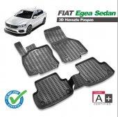 Fiat Egea 2015 Sonrası 3d Siyah Havuzlu Paspas