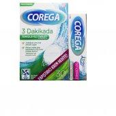 Corega 3 Dakikada Temizleyici 30 Tablet + Yapıştırıcı Krem Hediye