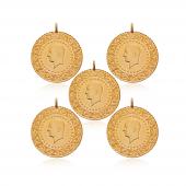 Yarım Altın Darphane 5 Adet Paket Eski Tarihli