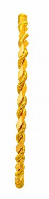 30 Gram 22 Ayar Altın İkili Burma Bilezik 6.4