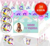 Afişli Unicorn Ünicorn Doğum Günü Parti Malzemeler...
