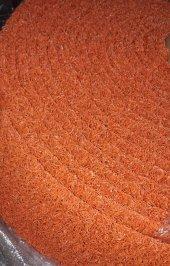 Kıvırcık Halı Paspas 100 Cm Eninde Turuncu Renk Paspas
