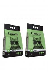 Lindo Cat Topaklaşan Kokusuz İnce Taneli Kedi Kumu 10 Lt X 2 Adet