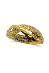 Cigold 14 Ayar Altın Taşlı Yüzük 21k1yzk0264001324