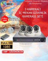 3 Kameralı (İç Mekan) Güvenlik Kamerası Seti 1080p Hd