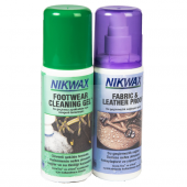 Nikwax İkili Paket Twin Fabric & Leather Spray + Footwear Cleaning Gel
